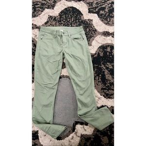 Women's Olive Green Skinny Pants - Sz 1